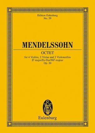 MENDELSSOHN - Oktett Es-Dur, Op. 20 - Sheet Music - di-arezzo.co.uk