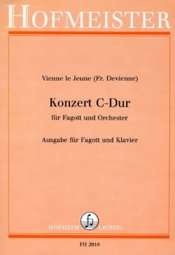 Konzert C-Dur -Fagott Klavier DEVIENNE Partition laflutedepan
