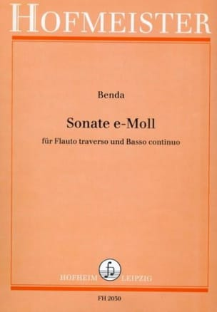 Franz Benda - Sonata e-moll - Flute and Bc - Partition - di-arezzo.co.uk