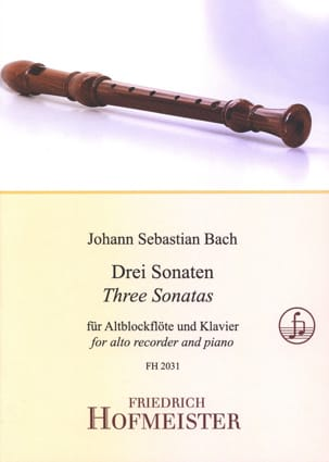 BACH - 3 Sonatas for Alto Flute Recorder - Sheet Music - di-arezzo.co.uk