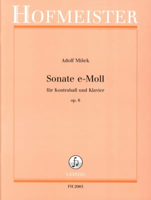 Adolf Misek - Sonate en Mi Mineur Op. 6 - Partition - di-arezzo.fr