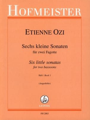 6 kleine Sonaten - Heft 1 Etienne Ozi Partition Basson - laflutedepan