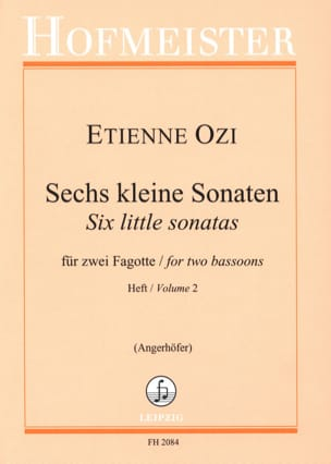 Etienne Ozi - 6 kleine Sonaten, Heft 2 - Sheet Music - di-arezzo.co.uk