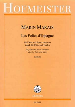 Marin Marais - The Folies of Spain - Flöte u. Bc - Sheet Music - di-arezzo.co.uk