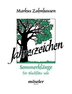 Sommerklänge - Markus Zahnhausen - Partition - laflutedepan.com
