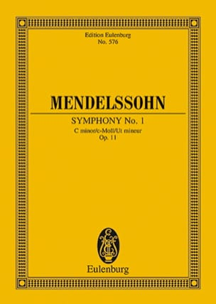 Symphonie Nr. 1 c-moll - Partitur - MENDELSSOHN - laflutedepan.com