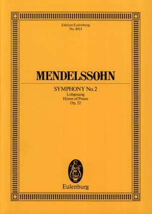 Symphonie Nr. 2 B-Dur op. 52 -Partitur MENDELSSOHN laflutedepan