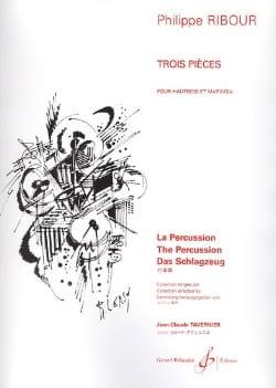 Philippe Ribour - Trois Pièces - Hautbois et Marimba - Partition - di-arezzo.fr