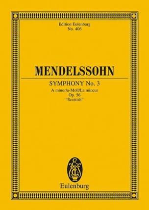 Symphonie Nr. 3 A-Moll - Partitur MENDELSSOHN Partition laflutedepan