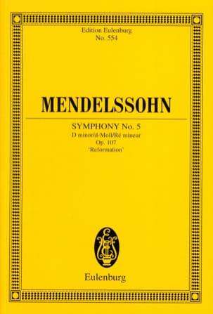 Symphonie Nr. 5 d-moll - MENDELSSOHN - Partition - laflutedepan.com
