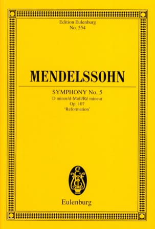 MENDELSSOHN - Symphony Nr. 5 d-moll - Sheet Music - di-arezzo.co.uk