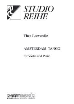 Theo Loevendie - Amsterdam Tango - Partition - di-arezzo.fr