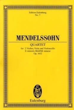 MENDELSSOHN - Streich-Quartett e-moll op. 44/2 - Partition - di-arezzo.fr