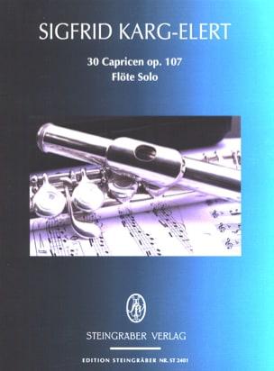 Sigfrid Karg-Elert - 30 Capricen op. 107 – Flöte solo - Partition - di-arezzo.fr