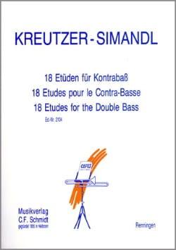 Kreutzer Rodolphe / Simandl Franz - 18 Etüden für Kontrabass - Sheet Music - di-arezzo.co.uk