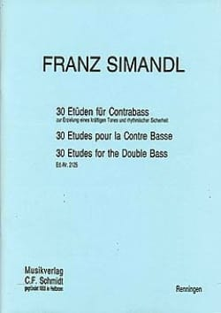 Franz Simandl - 30 Etüden für Kontrabass - Sheet Music - di-arezzo.co.uk