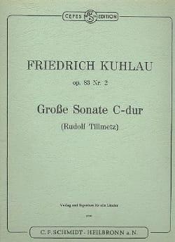 Friedrich Kuhlau - Grosse Sonate C-Dur op. 83 n° 2 – Flöte Klavier - Partition - di-arezzo.fr