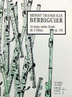 Benoît-Tranquille Berbiguier - 10 Kleine leichte Duette op. 142 - 2 Flöten - Partitura - di-arezzo.it