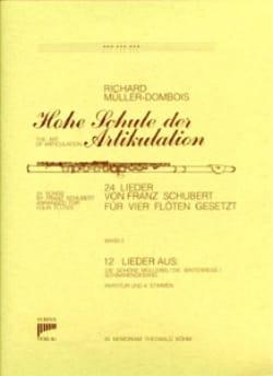 24 Lieder Bd. 2 - 12 Lieder - 4 Flöten SCHUBERT Partition laflutedepan