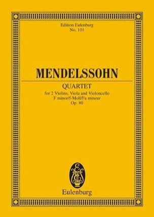 Streich-Quartett f-Moll, op. 80 MENDELSSOHN Partition laflutedepan