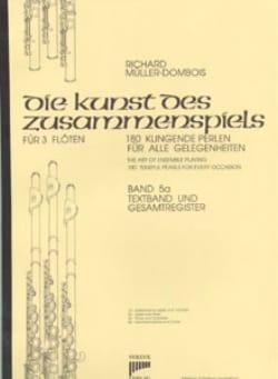 Richard Müller-Dombois - Die Kunst des Zusammenspiels, Volume 5a - 3 Flûtes - Partition - di-arezzo.fr