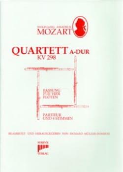 Quartett A-Dur KV 298 - 4 Flöten Stimmen + Partitur - laflutedepan.com