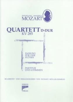 Quartett D-Dur KV 285 - 4 Flöten - MOZART - laflutedepan.com