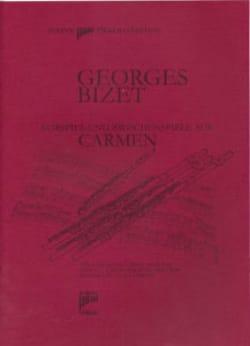 Carmen Prélude et Entractes - 4 Flûtes BIZET Partition laflutedepan