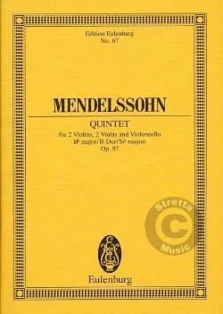 Quintette en Si B Majeur Op. 87 - laflutedepan.com