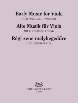 Ferenc Brodszky - Early music for Viola - Partition - di-arezzo.fr