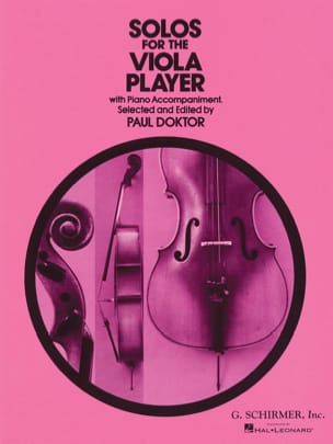 Solos for the viola player Paul Doktor Partition Alto - laflutedepan