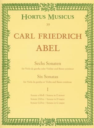 Carl Friedrich Abel - 6 Sonatas - notebook 1 - Viola da gamba o. Violine - Sheet Music - di-arezzo.co.uk