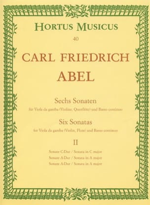 Carl Friedrich Abel - 6 sonatas - notebook 2 - Viola da gamba o. Violine, Querflöte - Sheet Music - di-arezzo.co.uk