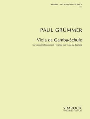 Paul Grümmer - Method - Viola da gamba - Sheet Music - di-arezzo.co.uk