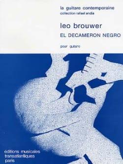 Leo Brouwer - El Decameron Negro - Partition - di-arezzo.fr