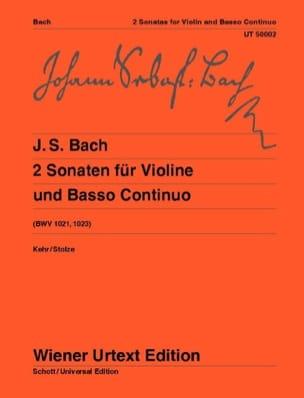 BACH - 2 Sonaten (BWV 1021 et 1023) für Violine und Basso continuo - Partition - di-arezzo.fr