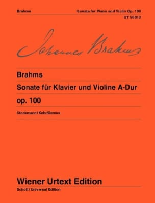 BRAHMS - Sonata No. 2 in the Greater Op. 100 - Sheet Music - di-arezzo.co.uk