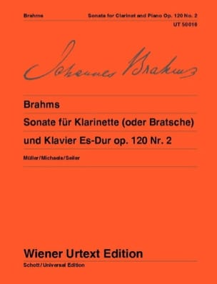 BRAHMS - Sonata Es-Dur Op. 120 N ° 2 - Sheet Music - di-arezzo.co.uk