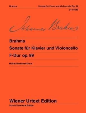 Sonate F-Dur, op. 99 BRAHMS Partition Violoncelle - laflutedepan