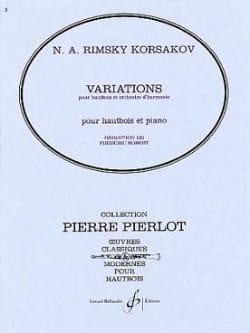 Variations Nicolaï Rimsky-Korsakov Partition Hautbois - laflutedepan
