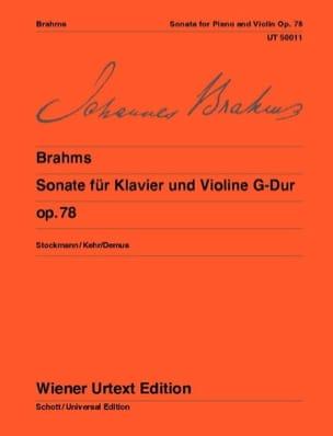 Sonate en Sol Majeur Op. 78 - BRAHMS - Partition - laflutedepan.com