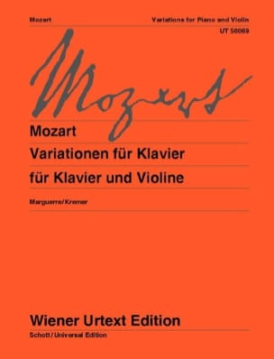 Variationen MOZART Partition Violon - laflutedepan