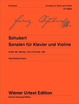 SCHUBERT - Sonaten for Klavier und Violine - Sheet Music - di-arezzo.co.uk
