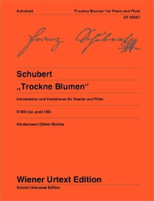SCHUBERT - Variationen Trockne Blumen D. 802 Op. Post. 160 - Sheet Music - di-arezzo.com
