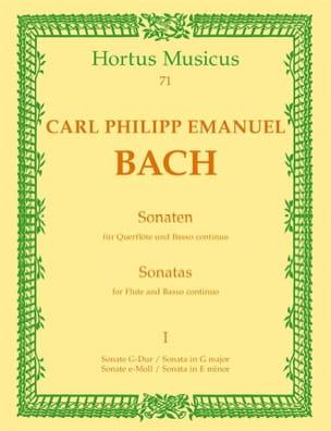 Carl Philipp Emanuel Bach - Sonaten - Bd. 1 - Flöte u. Bc - Partition - di-arezzo.fr
