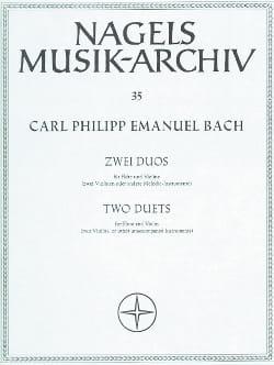 Carl Philipp Emanuel Bach - 2 Duos - Flöte Violine - Partition - di-arezzo.fr