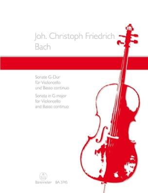 Johann Christoph Friedrich Bach - Sonate für Violoncello und Basso continuo G-Dur - Partition - di-arezzo.fr