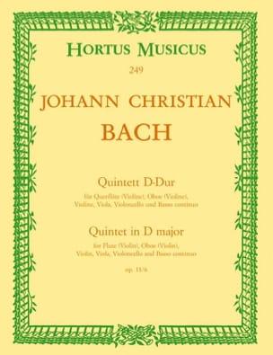 Johann Christian Bach - Quintett D-Dur op. 11 No. 6 - Flöte Oboe Violine Viola BC - Sheet Music - di-arezzo.co.uk