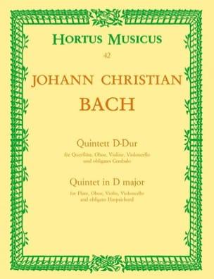 Johann Christian Bach - Quintett D-Dur -Flöte Oboe Violine Violoncello Cembalo - Partition - di-arezzo.fr