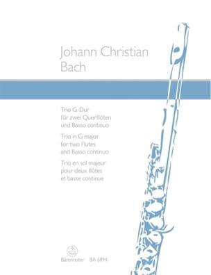 Trio G-Dur – 2 Flöten Bc - Johann Christian Bach - laflutedepan.com